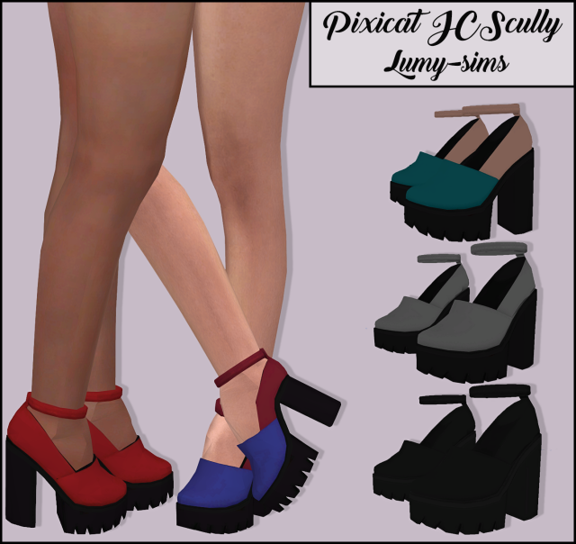 Pixicat JCScully Heels by Lumy-sims