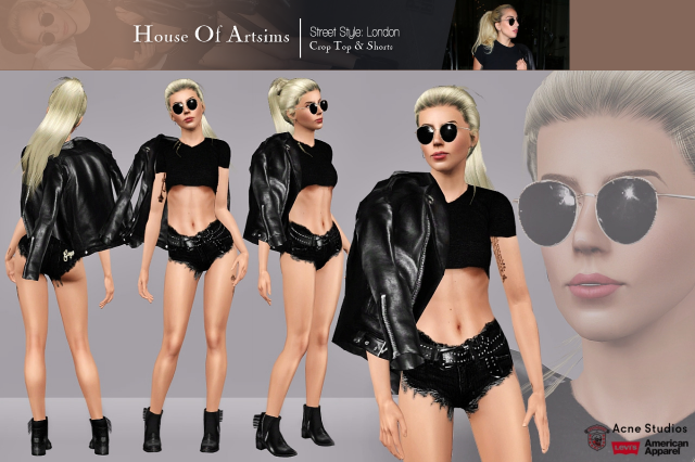 Street Style: London  Crop Top & Shorts by ArtSims