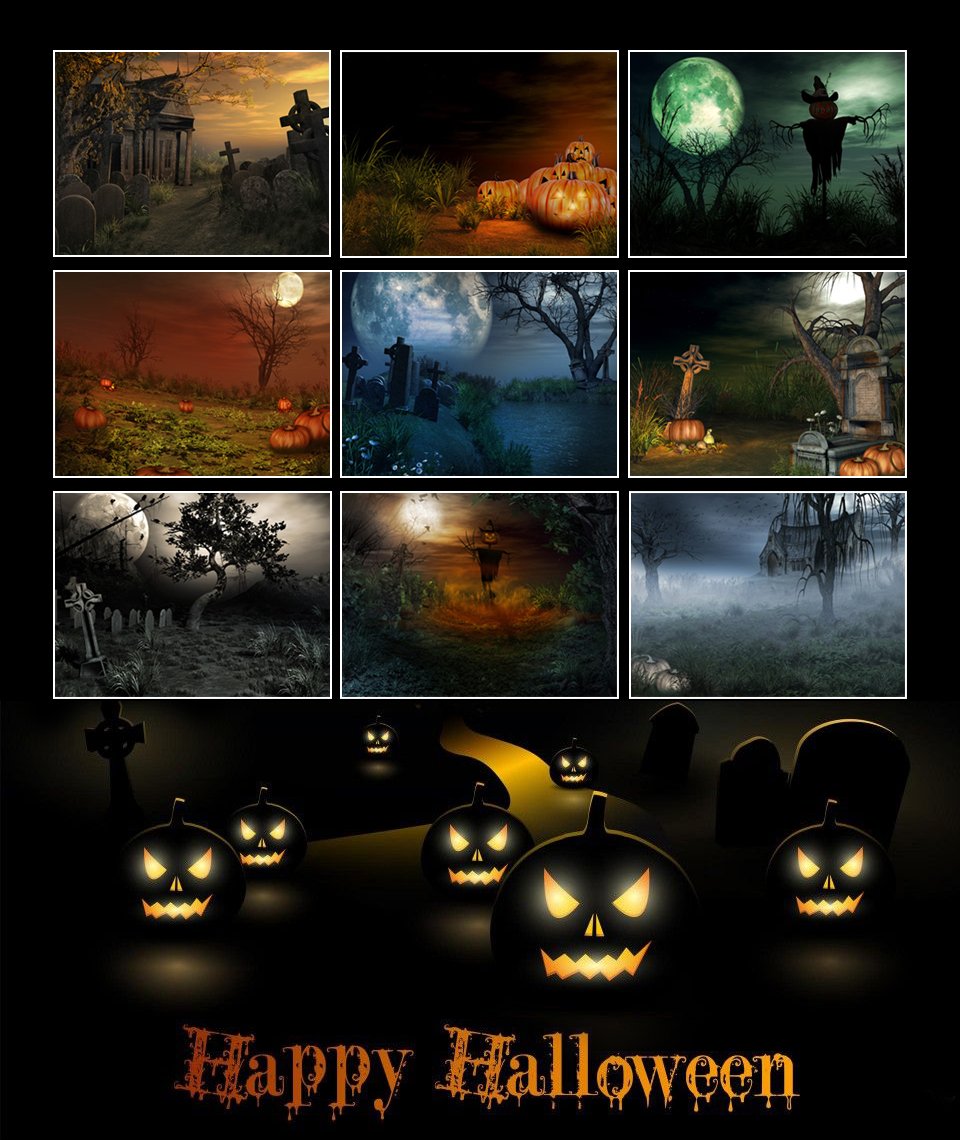 Halloween Sceneries by Anarchy-Cat