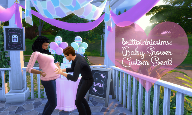 Мод - Бэби Шауэр (Baby Shower Mod) by brittpinkiesims