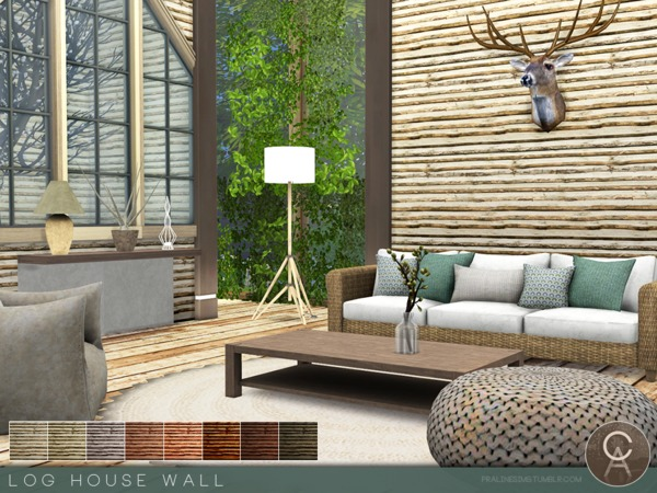 Log House Wall by Pralinesims