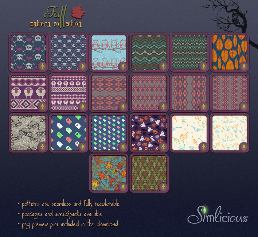 Fall Pattern Collection от simlicious
