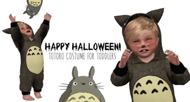 TOTORO COSTUME (TOTS ONLY) by myamazingsims