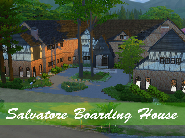 The Vampire Diaries Salvatore Boarding House by candiii