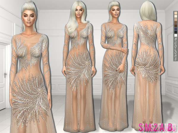 244 - Nude prom dress by sims2fanbg