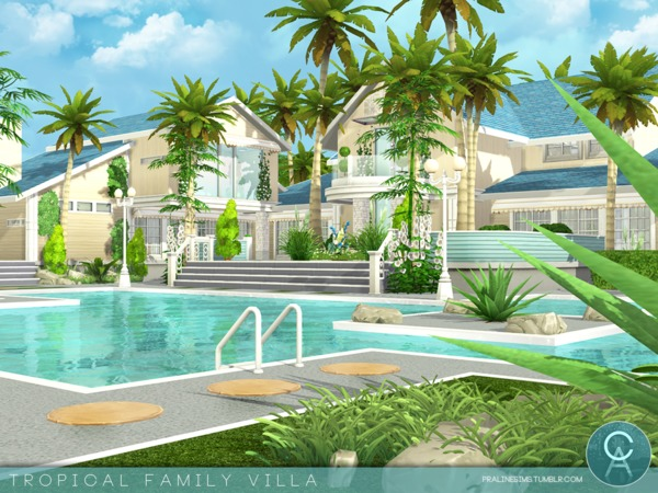 Tropical Family Villa by Pralinesims