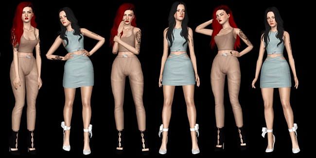 Model 4 Pose Pack by lies-and-crooked-sims