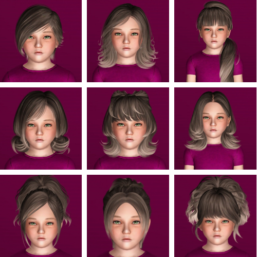 Hairs dump #60 - Skysims Hairs for Children от ifcasims