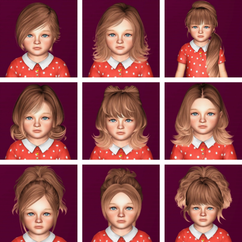 Hairs dump #61 - Skysims Hairs for Toddlers от ifcasims
