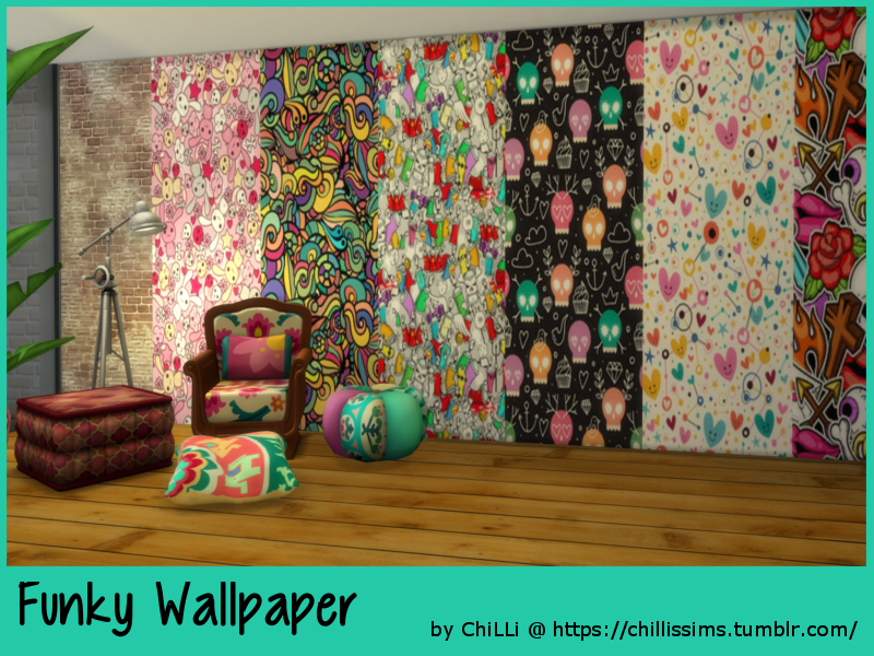 Funky Wallpaper by ChillisSims
