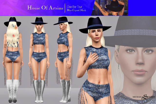Dive Bar Tour  Blue Crystal Mesh by ArtSims