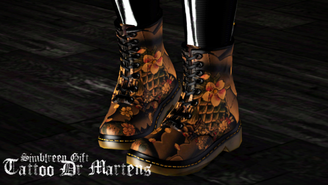 Two recolors of Pixicats Dr Martens shoes by ziva-sims