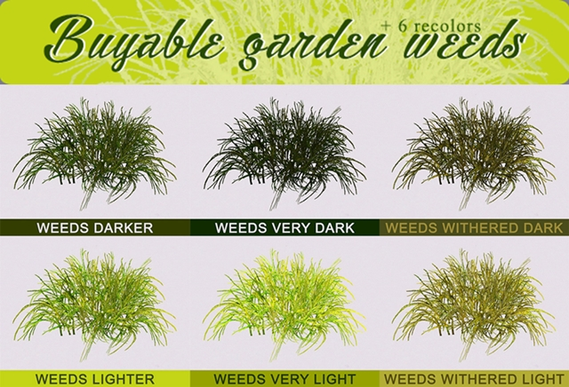 Buyable Garden Weeds by sweetdevil-sims
