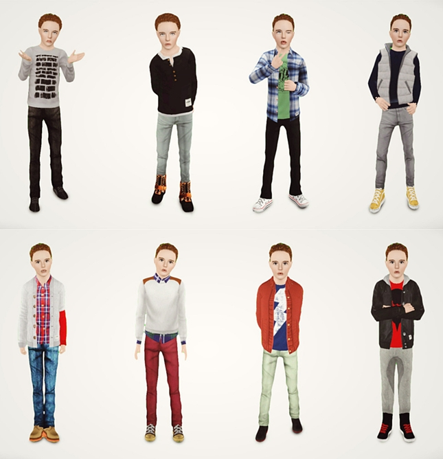Boys Fall Collection by chunkysims