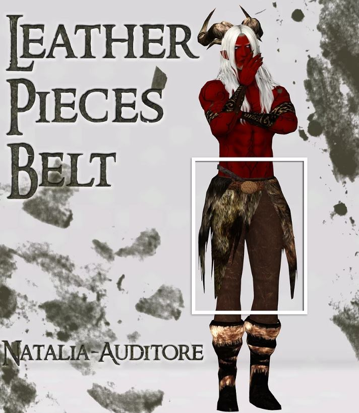 Leather Pieces Belt ACC от natalia-auditore