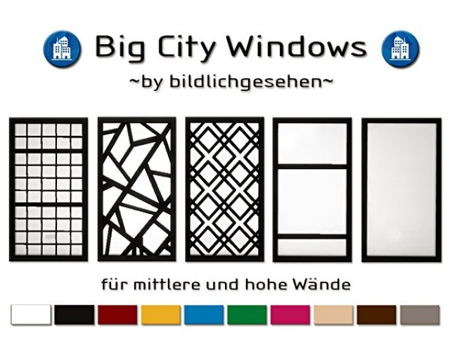 Big City Windows by Bildlichgesehen