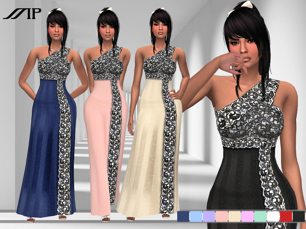 MP Lace Trim Night Gown by MartyP