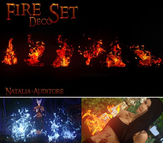 Пламя - декор Fire Deco set 1 by natalia-auditore