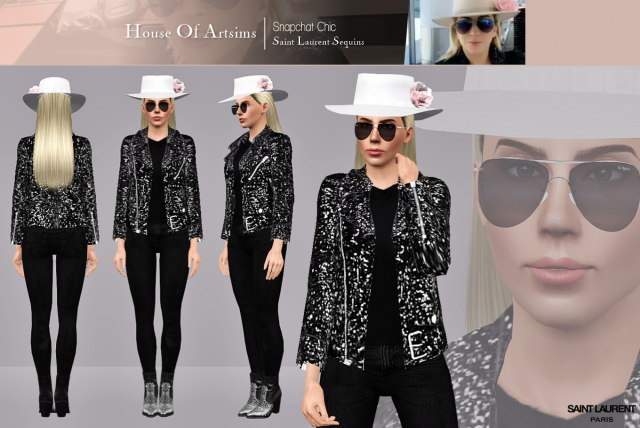 Snapchat Chic  Saint Laurent Sequins by ArtSims