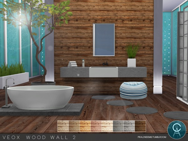 VEOX Wood Wall 2 by Pralinesims