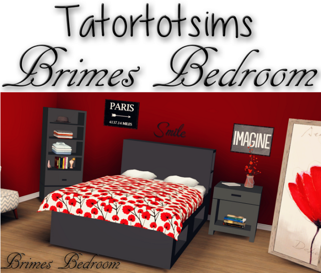 Brimes Bedroom by tatortotsims