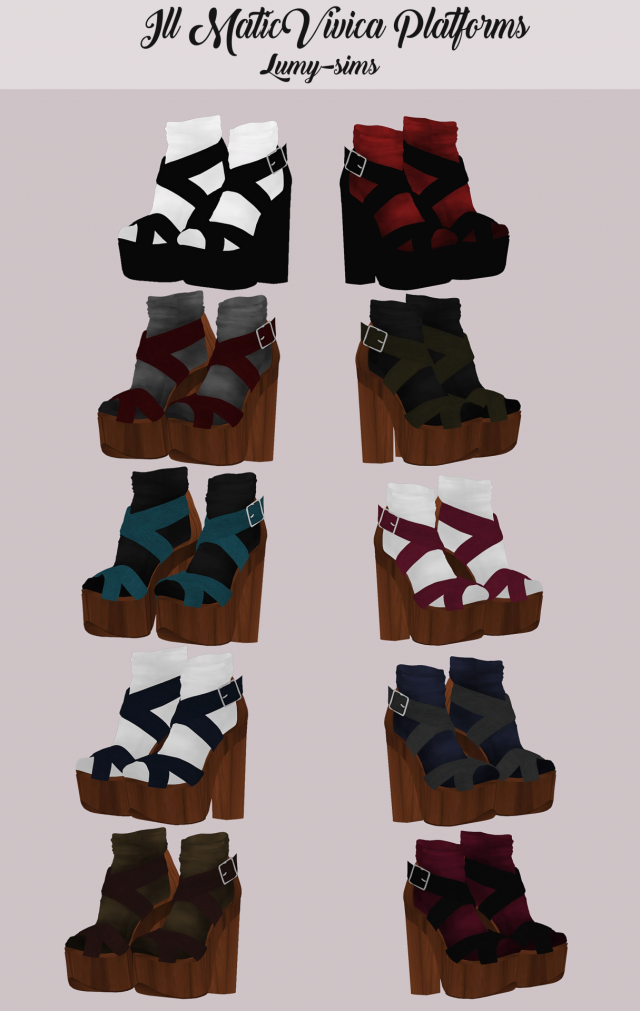 Ill Matic Vivica Platforms by Lumy-sims