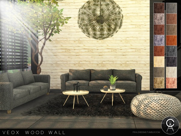VEOX Wood Wall by Pralinesims