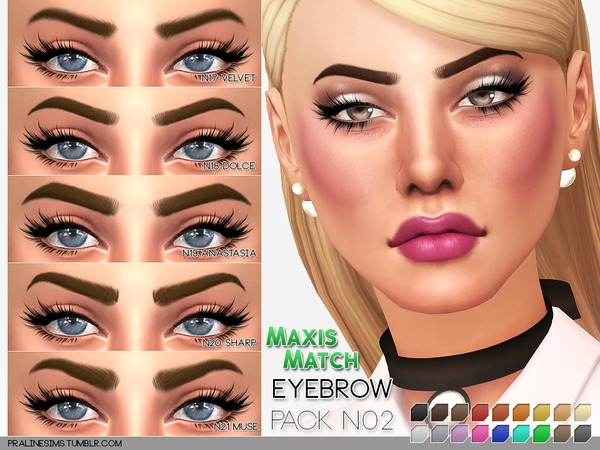 Maxis Match Eyebrow Pack N02 by Pralinesims