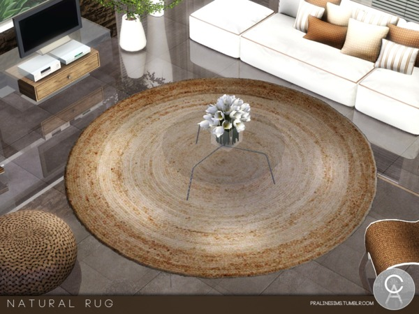 Natural Rug by Pralinesims
