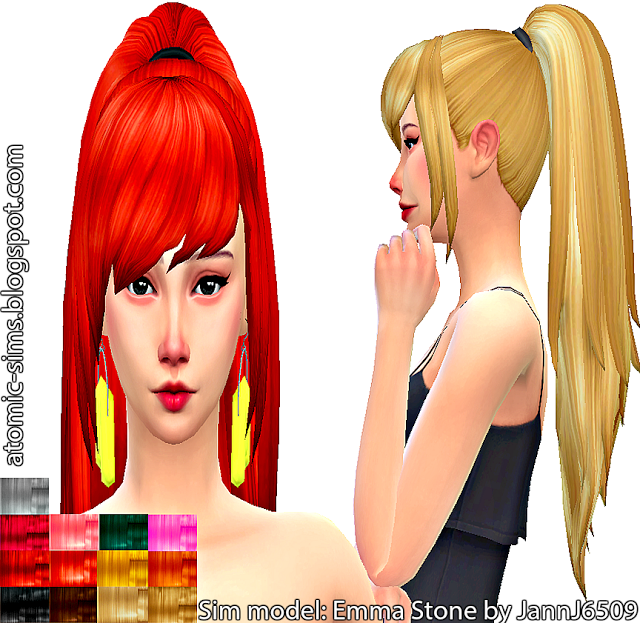 KiaraZurk Fashion ponytail recolor by Atomic-sims