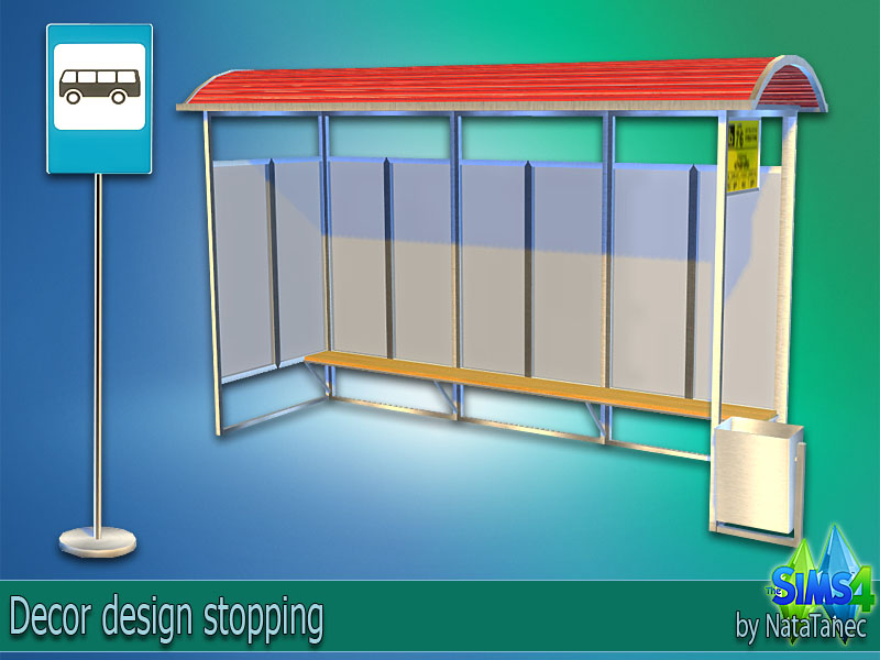 Bus Stop Decor Set by Natatanec