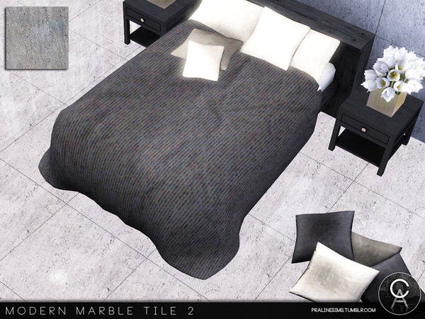 Modern Marble Tile 2 by Pralinesims