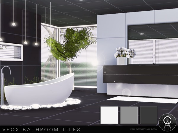 VEOX Bathroom Tiles by Pralinesims