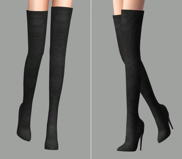 KingK Thigh High Heel by j-urassica