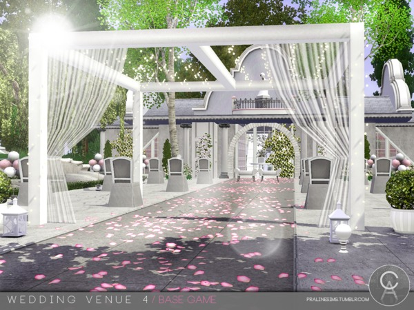 Wedding Venue 4 by Pralinesims