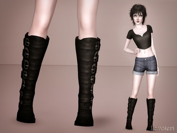 Knee Combat Boots by Lavoieri