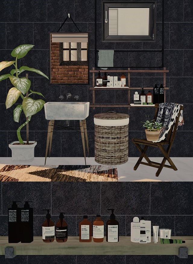 Mari Bathroom Decor by DreamTeamSims