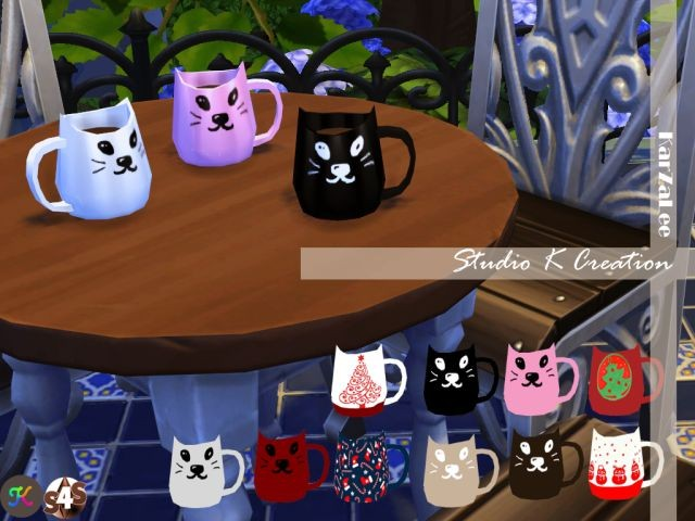 Neko - Cup decor by Karzalee