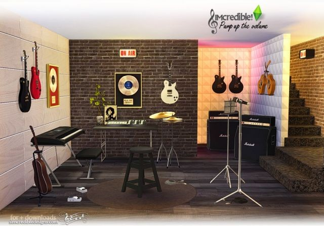 Pump Up The Volume Music Room Set by Simcredible
