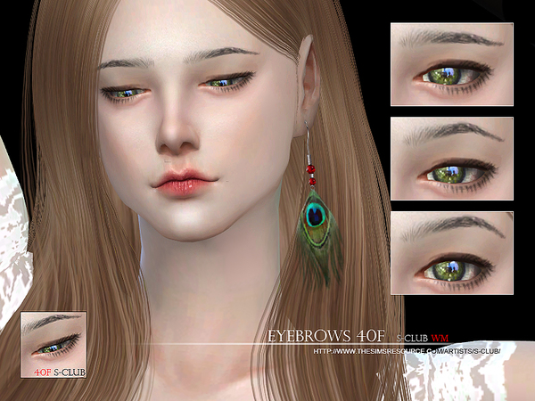 S-Club WM thesims4 Eyebrows 40F