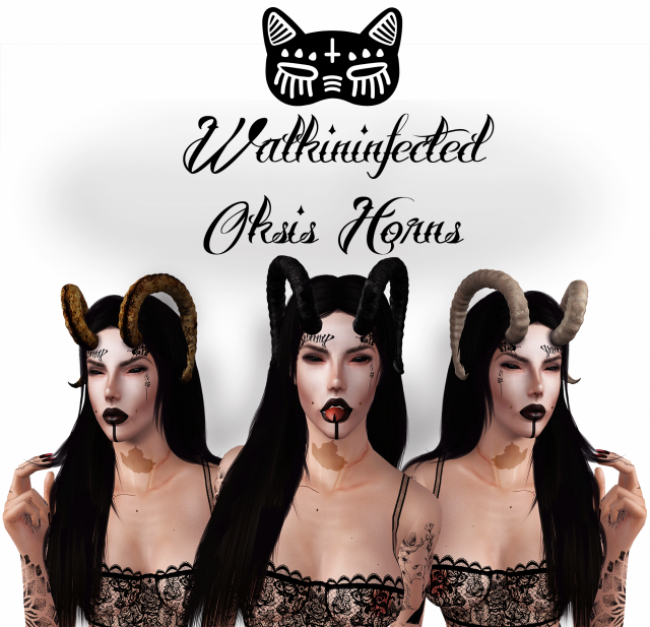 Oksis Horns by Walkininfected