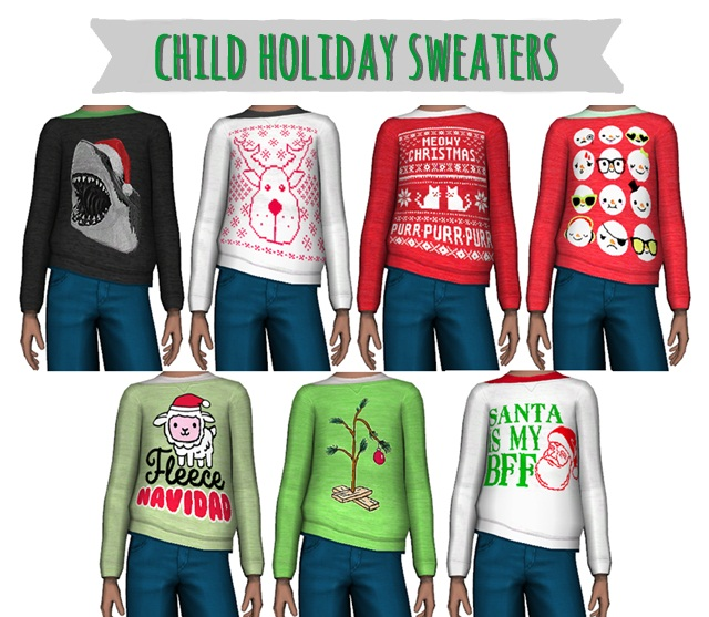 Child Holiday Sweaters by simplysickandtired
