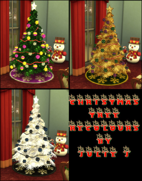 Christmas Tree Recolors by JulieJ