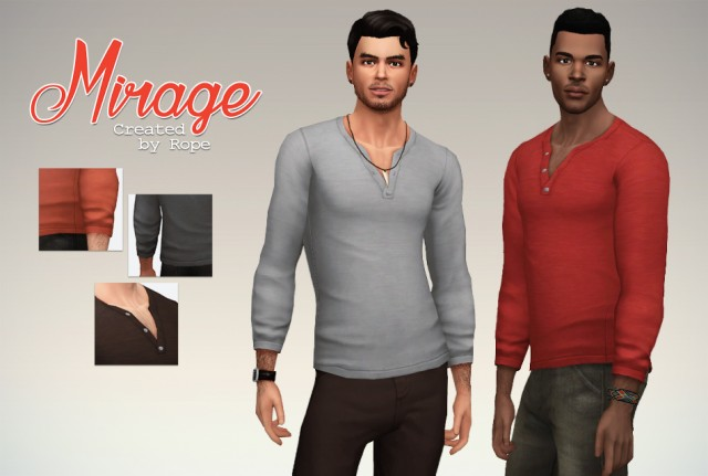 Mirage Henley Shirt by Simsontherope