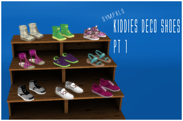 Kids Deco Shoes Pt 1 by Sympxls