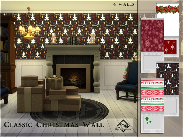 Classic Christmas Walls by Devirose