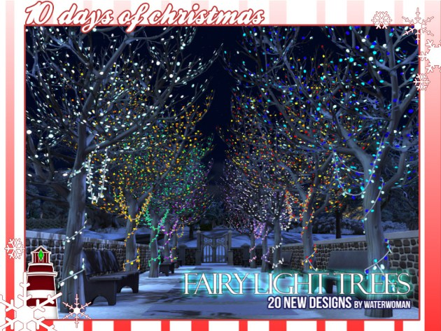 Fairy Light Trees in 20 New Colors by WaterWoman