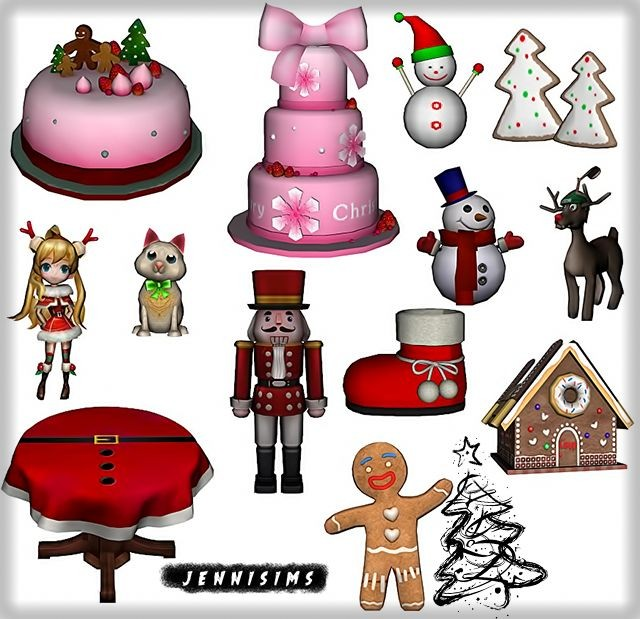 Decoratives christmas (12 items)Vol 1 by JenniSims
