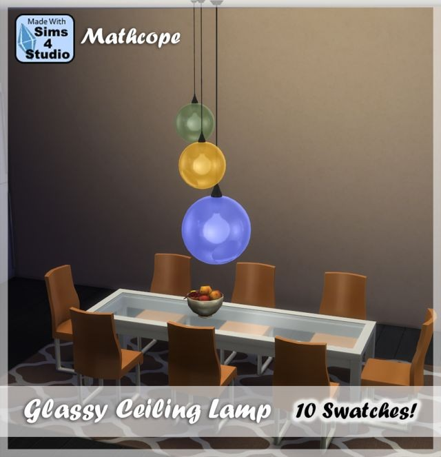 Glassy Ceiling Lamp in 10 Colors by Mathcope