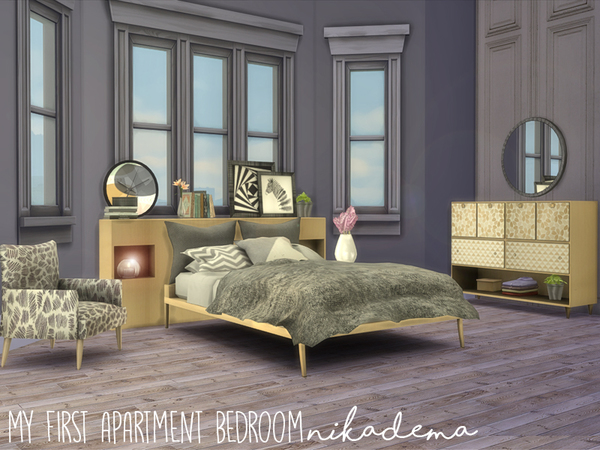 First Apartment Bedroom by nikadema